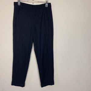 Zara- Navy Blue Pinstriped Work Pants size small